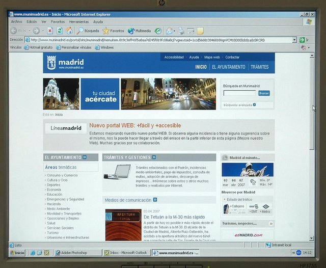 Página web del Ayuntamiento de Madrid