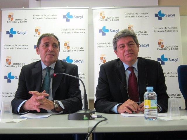 Sáez Aguado (I) y Juan Jesús Cruz