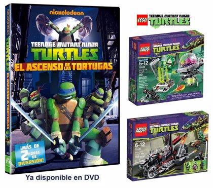 ¡Llévate un LEGO® Teenage Mutant Turtles con el lanzamiento en DVD de 'El ascenso de las Tortugas Ninja'!