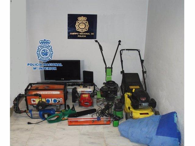 Detenidas dos personas acusadas del asalto a 14 viviendas de campo de Motril