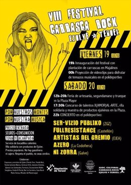 Cartel VIII edición del Festival Ejulve Carrasca Rock