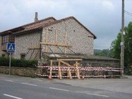 Casa afectada por los soplaos