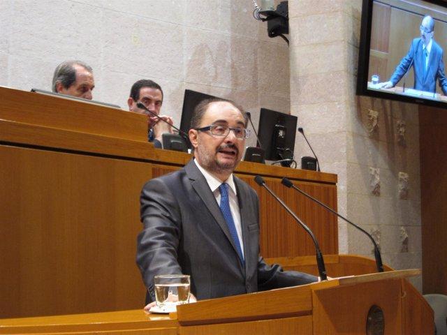 Javier Lambán, en su turno de intervención