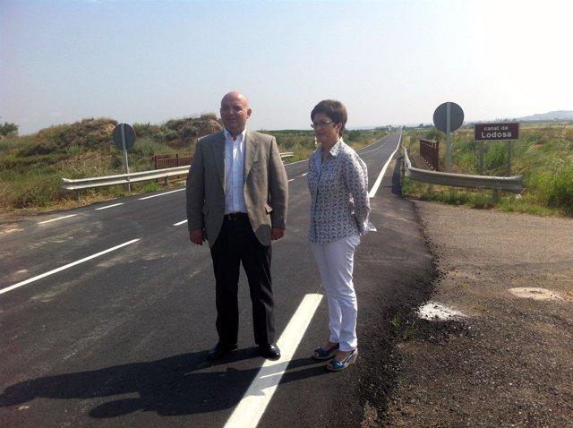 Garrido y la alcaldesa, en la carretera