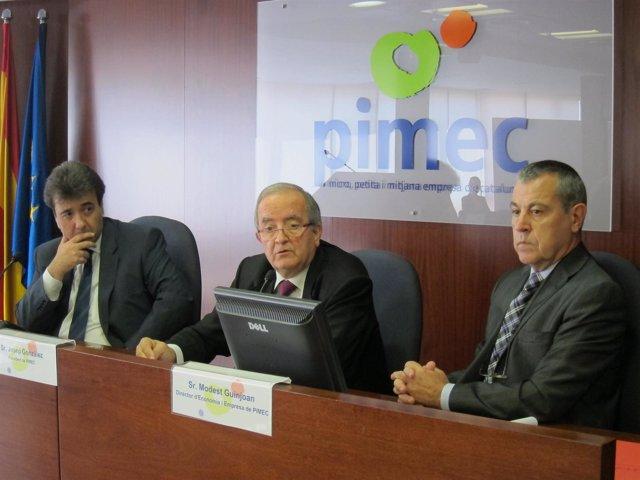J.Moreno (Sabadell), J.González (Pimec) y M.Guinjoan (Pimec)