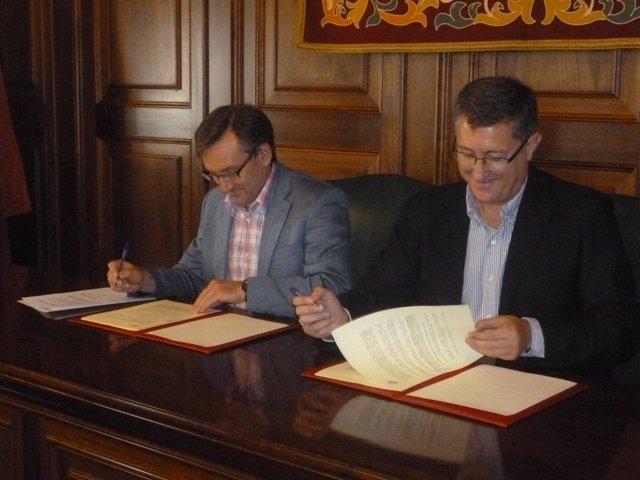 Joaquín Juste y Manuel Blasco