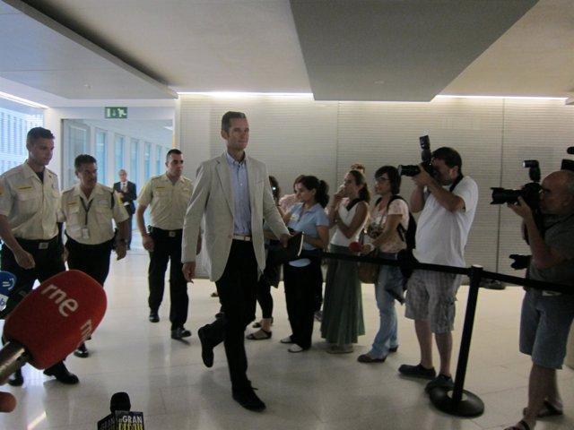 Iñaki Urdangarin en los juzgados de Barcelona