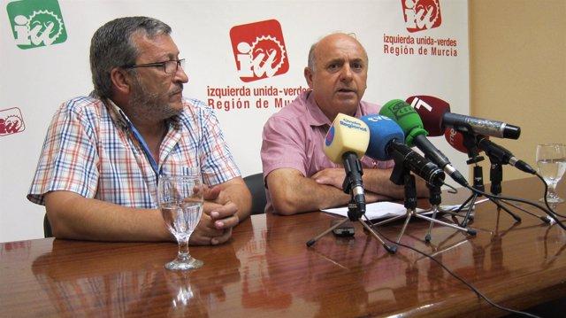José Manuel López y José García Murcia, de IU-Verdes