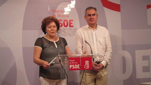Rosique y Tovar en rueda de prensa