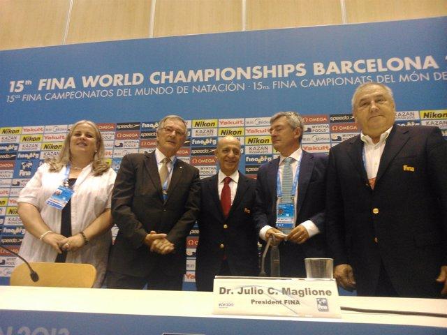 Presentación Mundiales de Natación en Barcelona