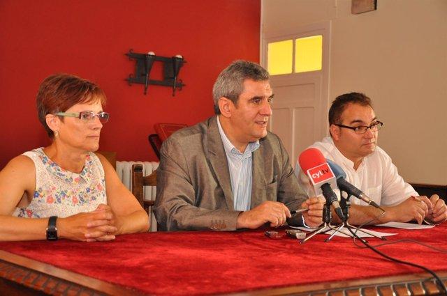 Rueda de prensa de Villarrubia en Villalón de Campos (Valladolid)
