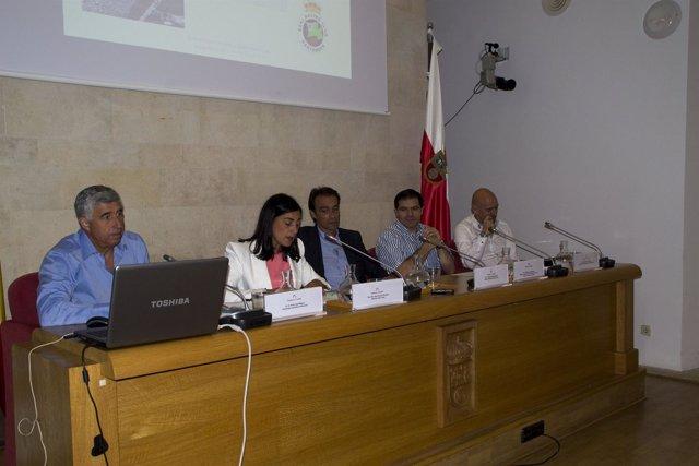 Pedro Alba, Alberto López, Miguel Pineda y Esteban Torre