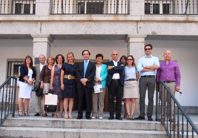 Visita del viceconsejero a Alpedrete