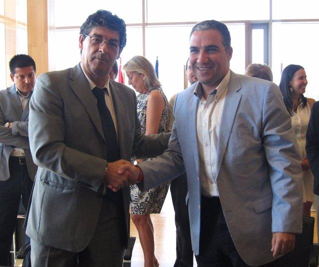 Diego Valderas y Elías Bendodo en Málaga