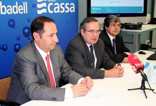 Rueda de prensa del grupo Cassa