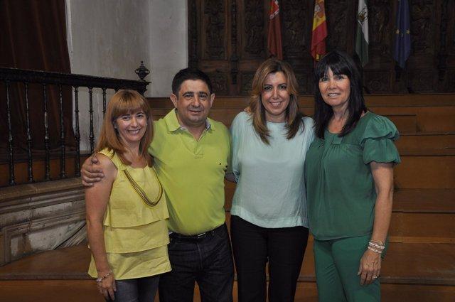 Francisco Reyes, Susana Díaz y Micaela Navarro