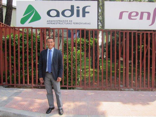 Ignacio Caraballo, en la sede de Renfe en Madrid