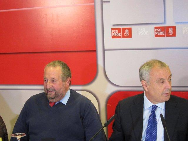 Pachi Vázquez y Xosé López Orozco (PSdeG-PSOE)