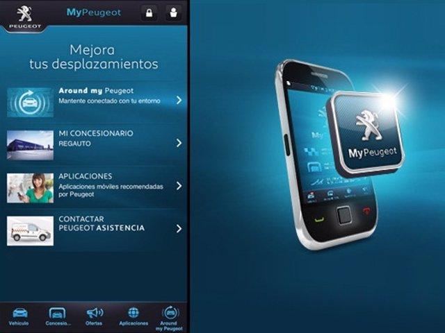 Aplicación MyPeugeot para móvil