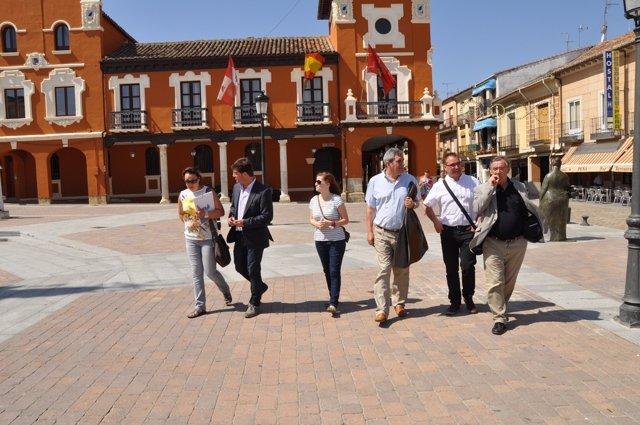 Visita del PSOE a Mayorga, Villalón y Medina de Rioseco (Valladolid)