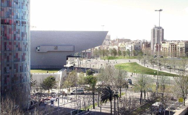 Imagen de futuro de la plaza de Glòries sin anillo viario