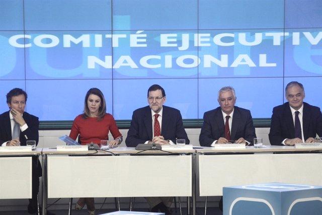 Rajoy, Cospedal y otros en el Comité Ejecutivo Nacional del PP