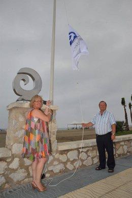 Porras En La Izada De La Bandera De Q De Calidad Turística De La Misericordia