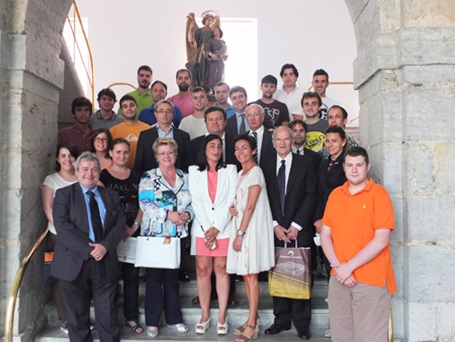 El secretario de Estado de Deporte con los alumnos del curso
