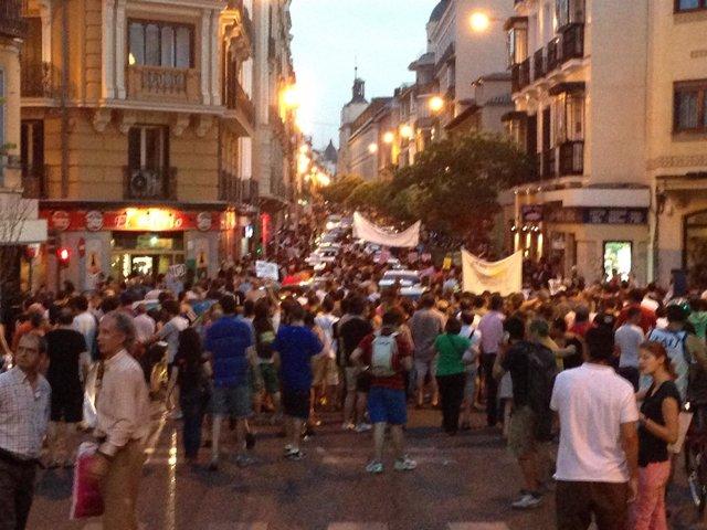 Los concentrados en Génova marchan hacia Sol