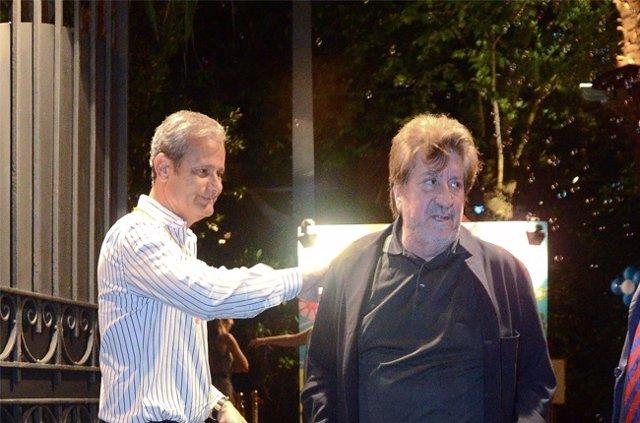 Andrés Vicente junto a Javier Merino