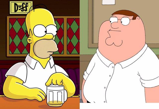 Los Simpson se cuelan en Padre de familia