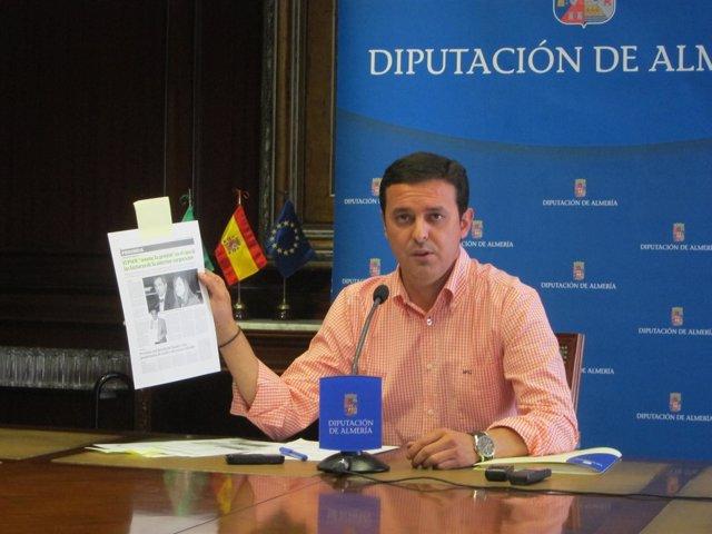 El vicepresidente de la Diputación de Almería, Javier Aureliano García (PP)