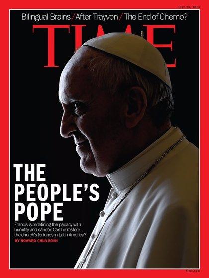 Vaticano.- La revista 'Time' dedica su portada del próximo lunes al Papa Francisco por segunda vez
