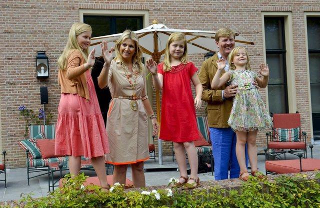 Fotosession mit der niederländischen Königsfamilie