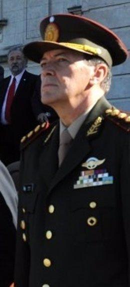 El jefe del Ejército argentina, César Milani