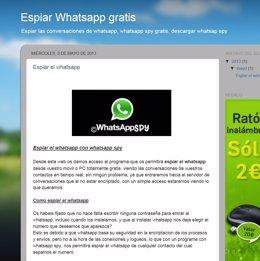 Estafa de whatssapp
