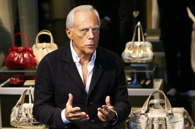 TOKYO - NOVEMBER 06:  Giorgio Armani visits the new flagship store on November 6