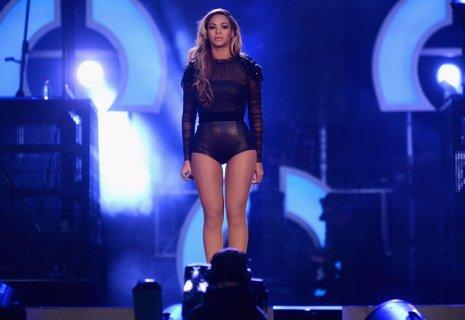 Beyoncé en una actuación