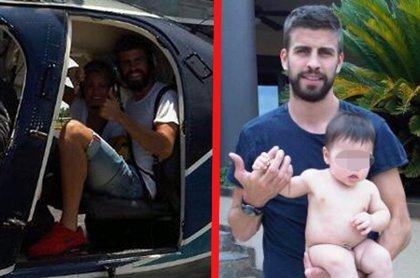 Shakira y Piqué, de vacaciones con Milan en Hawái