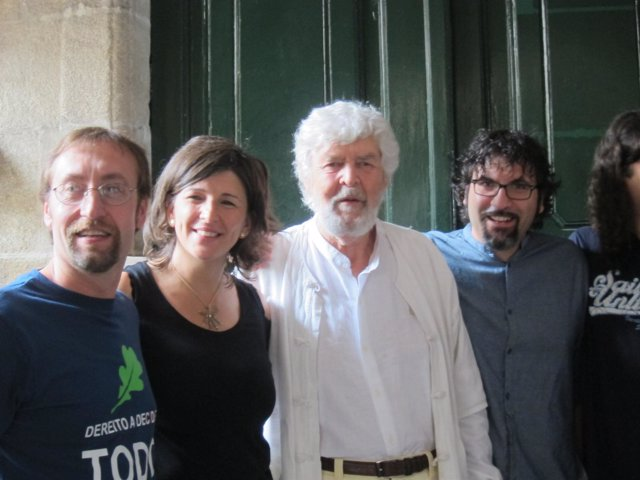 Yolanda Díaz y Xosé Manuel Beiras, en el medio