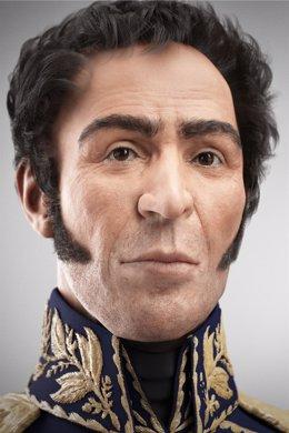 Rostro de Simón Bolívar