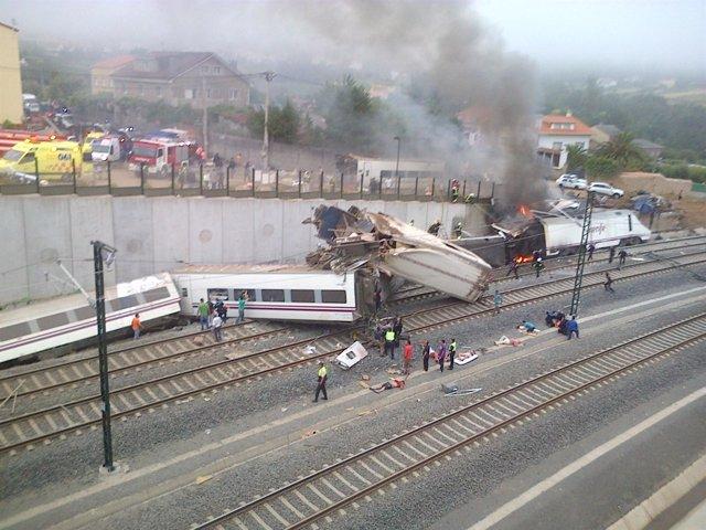 Accidente de tren en Santiago de Compostela el 24 de julio de 2013