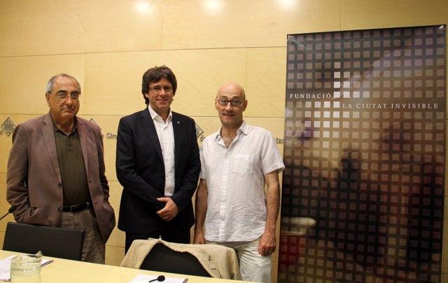 Anuncio de la fundación 'La Cuidad Invisible' en Girona