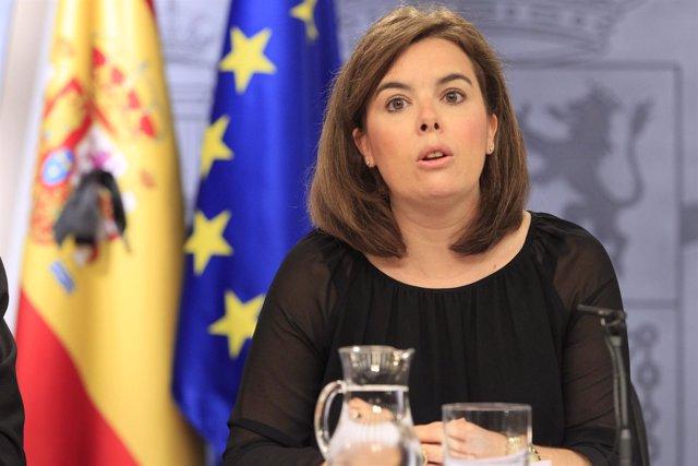 Soraya Sáenz de Santamaría en La Moncloa