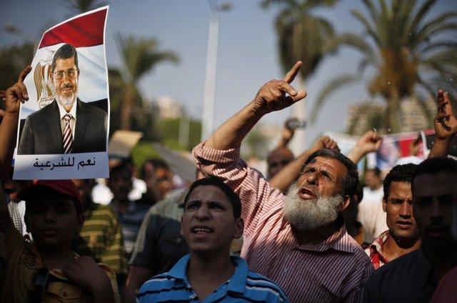 Seguidores de Mursi en Egipto