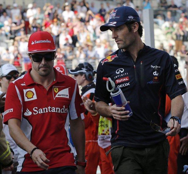 Fernando Alonso y Mark Webber