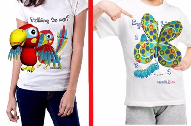 Camisetas con diseños en 3d