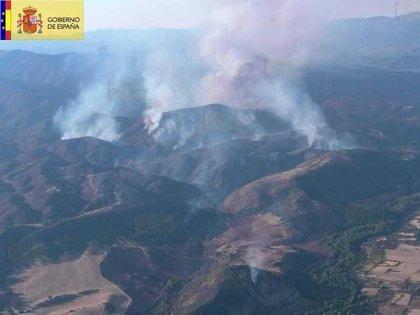 El fuego de Valdepeñas ha arrasado una superficie de 1.300 hectáreas