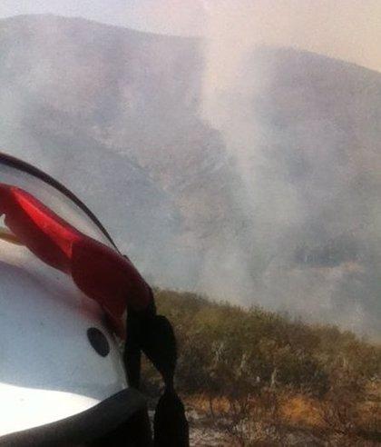 Incendios.- Baja a nivel 1 de alerta el incendio de Valdepeñas de la Sierra (Guadalajara)