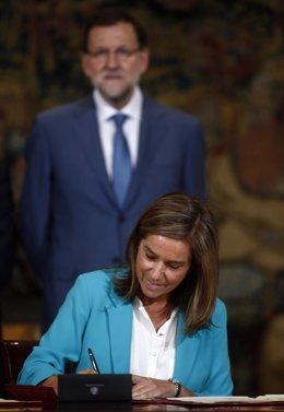 Rajoy y Mato en la firma del Pacto sobre Sanidad